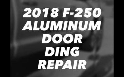 Aluminum Door Ding Dent Repair! Ford F250